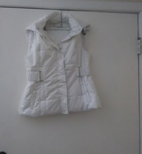 New York & Company puff vest with detachable hood